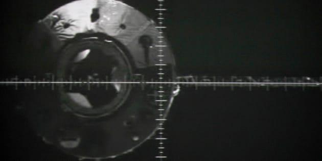 Una imagen del módulo Tiangong-1 de 2012.