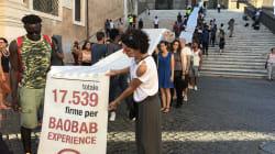 Un piazzale abbandonato per accogliere i migranti, Baobab Experience porta 17 mila firme sotto le finestre della Raggi (di L.