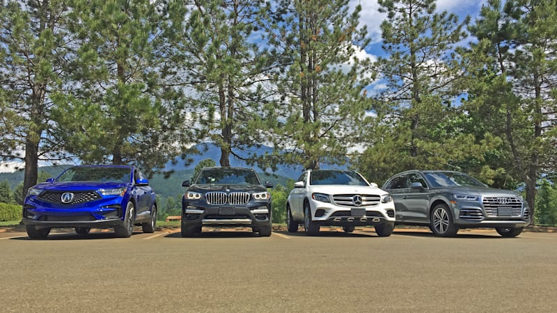 Comparison test: Acura RDX vs  Audi Q5, BMW X3, Mercedes-Benz GLC300