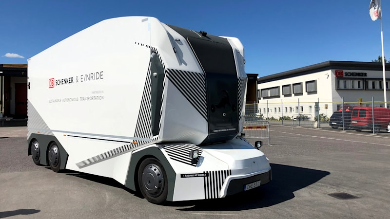 photo of Driverless electric truck starts deliveries on Swedish public road image