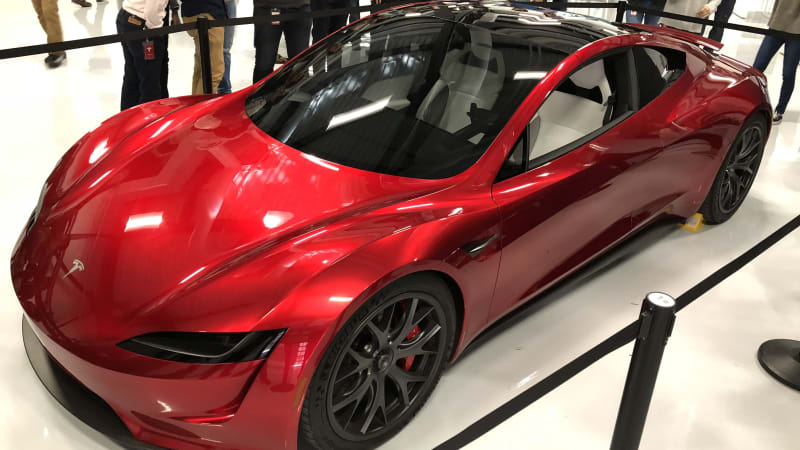Tesla Roadster is showcased at Tesla headquarters - Autoblog