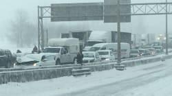 Un homme meurt dans le carambolage sur l'autoroute 20 près de