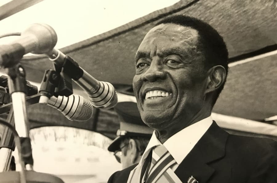 "Lucas Mangope was the leader of Bophuthatswana, an apartheid ""homeland"", between 1977 and 1994."