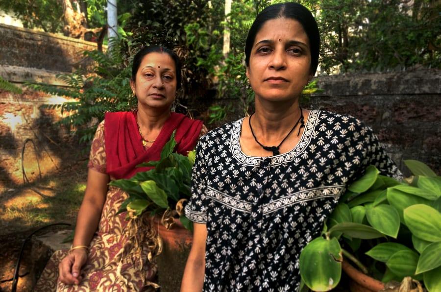 Harsha Baliga and Anuradha Baliga at their home in Mangalore in May, 2018.