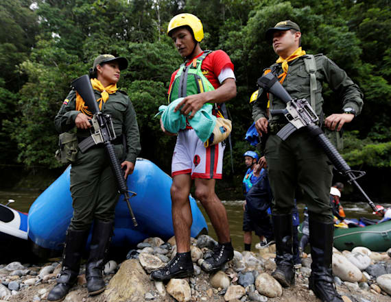 Colombia's ex-rebels turn rafting guides