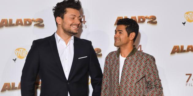 """Kev Adams et Jamel Debbouze assistent à la première de """"Alad'2"""" au Grand Rex à Paris, le 21 septembre dernier."""