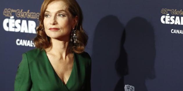 Isabelle Huppert à la 42ème cérémonie des César à Paris le 24 février.