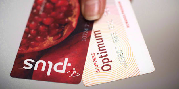 A Loblaws PC Plus and a Shoppers Drug Mart Optimum card are shown together. The two programs have been merged to form PC Optimum.