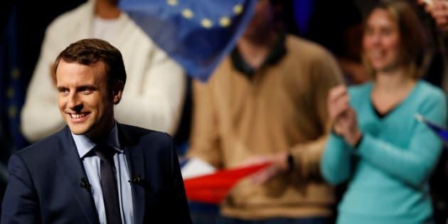 Emmanuel Macron lors d'un meeting à Angers, le 28 février 2017.