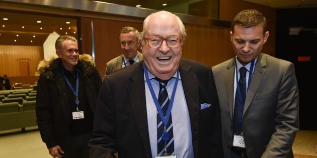Jean-Marie Le Pen au Luxembourg le 23 novembre 2017.