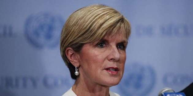 Julie Bishop believes all options must be on the table in the Syrian conflict.