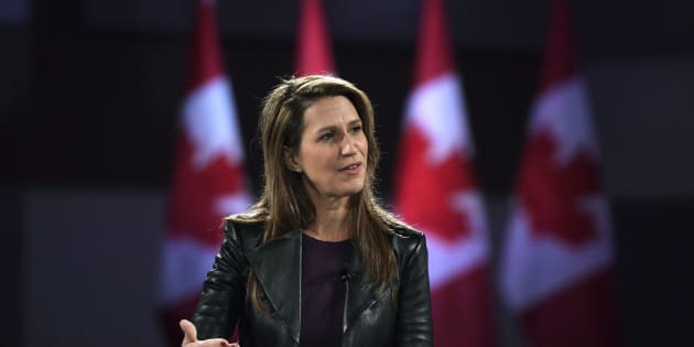 Ontario PC Party leadership candidate Caroline Mulroney participates in a Q&A at the Manning Networking Conference in Ottawa on Feb. 9, 2018.