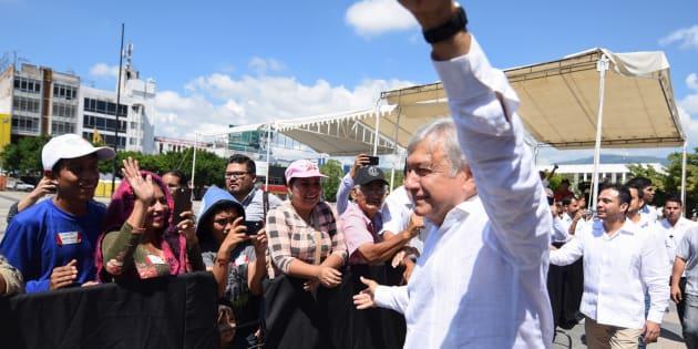 Andrés Manuel López Obrador durante su gira en Chiapas, el 21 de octubre de 2018.