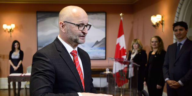 David Lametti is sworn in as Justice Minister and Attorney General of Canada at a swearing in ceremony at Rideau Hall in Ottawa on Jan. 14, 2019.