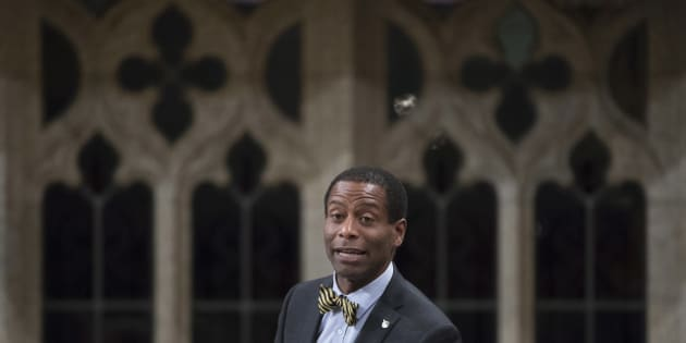 Liberal MP Greg Fergus rises in the House of Commons in Ottawa on May 20, 2016.