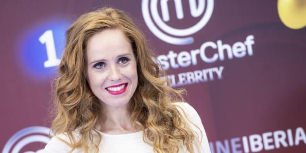 Maria Castro en la presentación de 'Masterchef Celebrity' en el FesTVal de Vitoria, el 6 de septiembre de 2018.