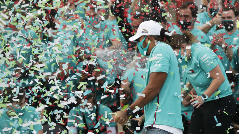 Lewis Hamilton wins Emilia Romagna Grand Prix in big day for Mercedes