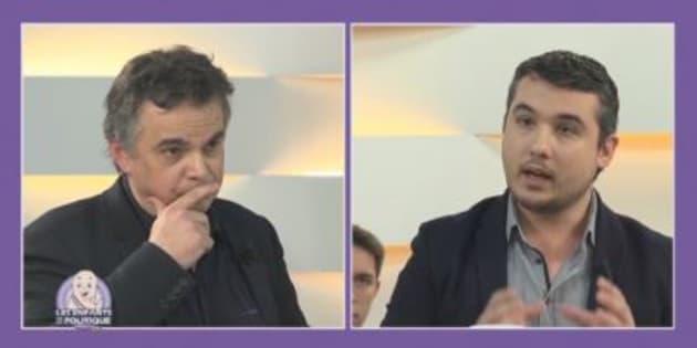 Alexandre Jardin répond aux questions de l'émission télévisée Les Enfants de la Politique.