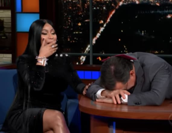 Nicki Minaj leaves Stephen Colbert speechless