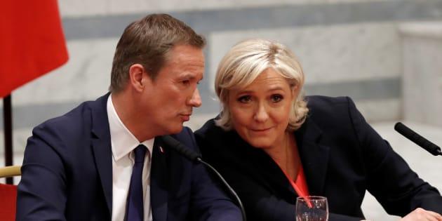 Marine Le Pen et Nicolas Dupont-Aignan dans l'entre-deux tours de la présidentielle.