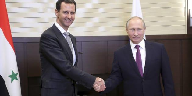 Bachar al-Assad rencontre Vladimir Poutine à Sotchi, le 20 novembre.
