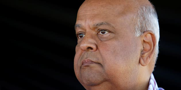 Pravin Gordhan at a South Africa Communist Party rally in Durban, South Africa, April 22, 2017.