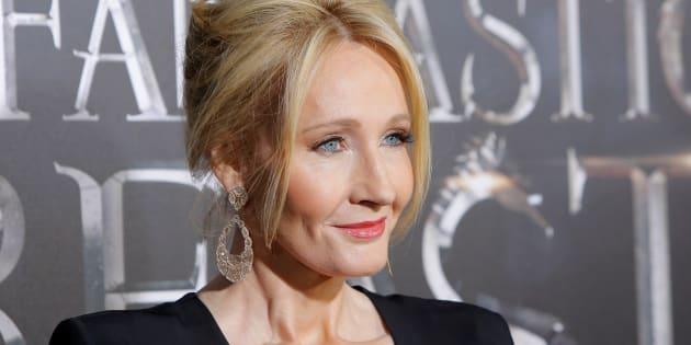 """J.K. Rowling lors de la première des """"Animaux fantastiques"""" à Manhattan, en novembre."""