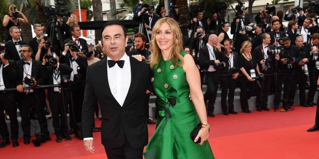 """Carlos Ghosn """"prêt"""" à rembourser les 50.000 euros de son mariage à Versailles  (Photo prise à Cannes le 26 mai 2017)."""