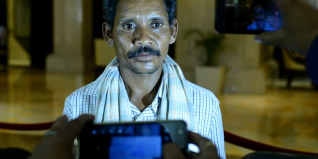 Dana Majhi a poor tribal from Odisha, Kalahandi District who was in news for carrying his wife's corpse on his shoulder for 10Km.