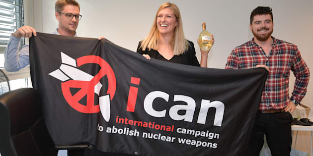 """Esta união de associações que estende por 100 países foi uma """"força motriz"""" e um """"ator líder da sociedade civil"""" do movimento contra as armas nucleares."""