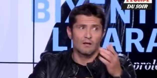"Bixente Lizarazu était invité de ""L'Equipe du Soir"" le 4 mai 2018."