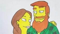Simpson, Dragon Ball Z... il dessine son couple dans le style de différents dessins