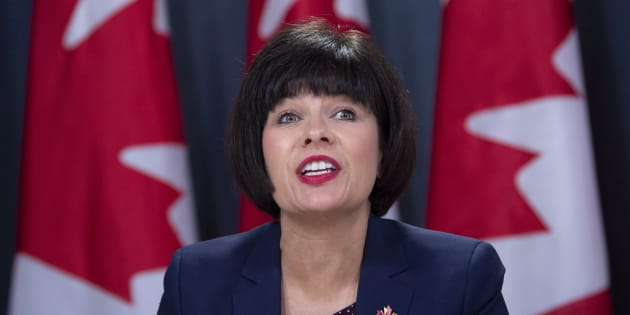 Health Minister Ginette Petitpas Taylor speaks during a news conference on legalized cannabis in Ottawa on Oct. 17, 2018.