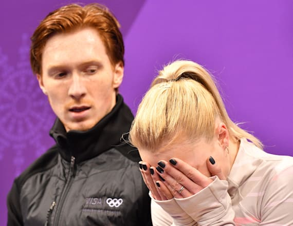 Figure skaters' matching outfits get awful reviews