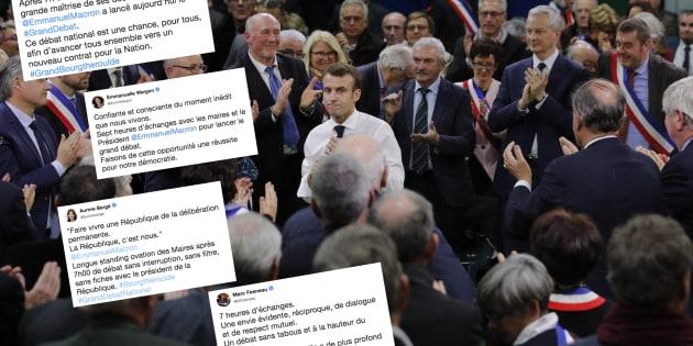 Pour le lancement du grand débat à Grand Bourgtheroulde dans l'Eure, Emmanuel Macron a débattu près de sept heures ce 15 janvier.