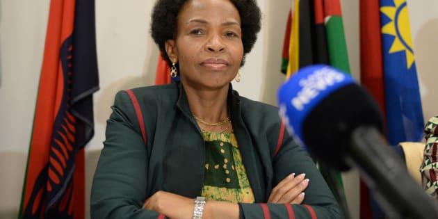 Minister of Rural Development and Land Reform Maite Nkoana-Mashabane.