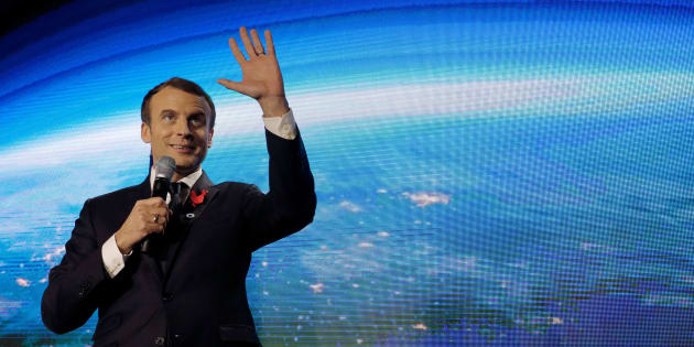 Emmanuel Macron, lors du One Planet Summit, le 11 décembre 2017.
