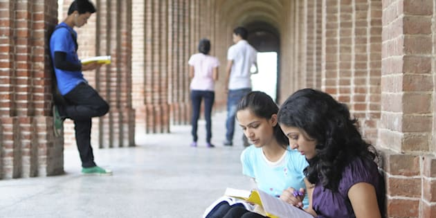 REPRESENTATIVE IMAGE: Group of students studying in college.