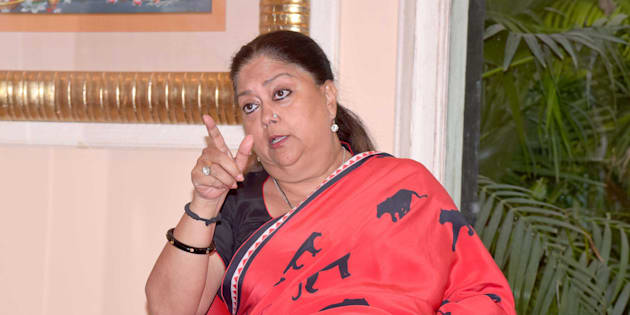 JAIPUR, INDIA - DECEMBER 12: Rajasthan Chief Minister Vasundhara Raje.