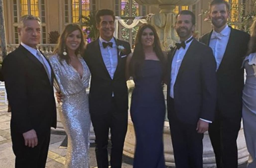 Real Housewives star Kelly Dodd called out for posing with Trump brothers at Fox News stars wedding