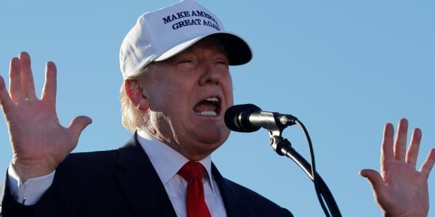 Donald Trump lors d'un meeting en Floride, le 23 octobre 2016. REUTERS/Jonathan Ernst
