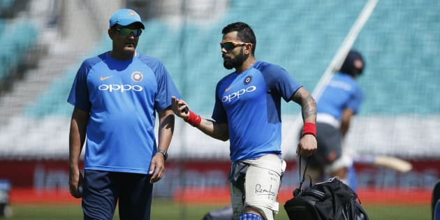 Britain Cricket - India Nets - The Oval - June 17, 2017 India's Head Coach Anil Kumble and Virat Kohli during nets Action Images via Reuters / Paul Childs Livepic EDITORIAL USE ONLY.