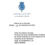 La brevísima respuesta de la Casa Real a la petición de Podemos al rey Juan Carlos
