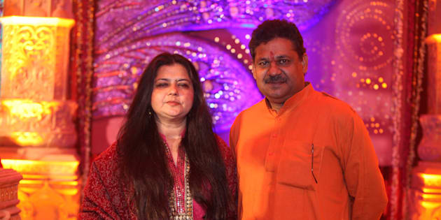 Kirti Azad, former Indian cricketer with his wife Poonam Azad.
