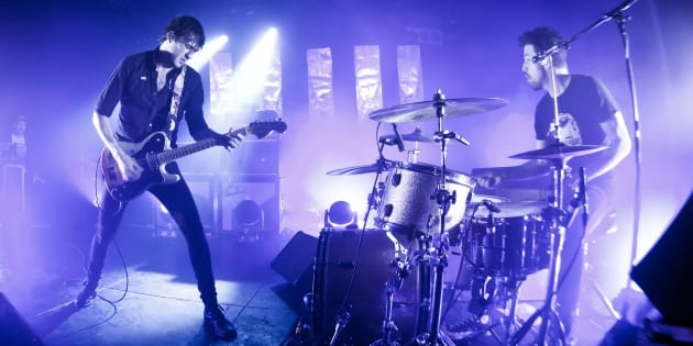 Brian King and David Prowse of Japandroids, performing in Berlin