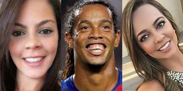 Beatriz Souza, Ronaldinho y Priscilla Coelho.