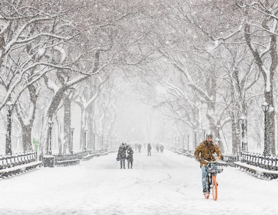Photos: Spring nor'easter shatters snowfall records