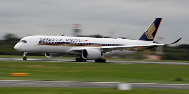 Un A350-900 de Singapore Airlines le 4 septembre à Manchester (photo d'illustration)