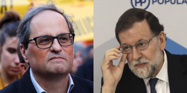 Quim Torra y Mariano Rajoy, en sendas imágenes de archivo.