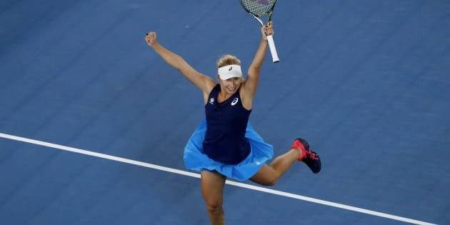 Dasha Gavrilova loved her victory as much we we love her.
